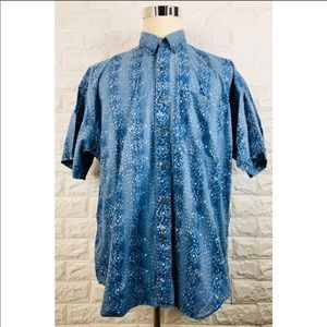 Chaps Ralph Lauren Blue White Button Up Shirt